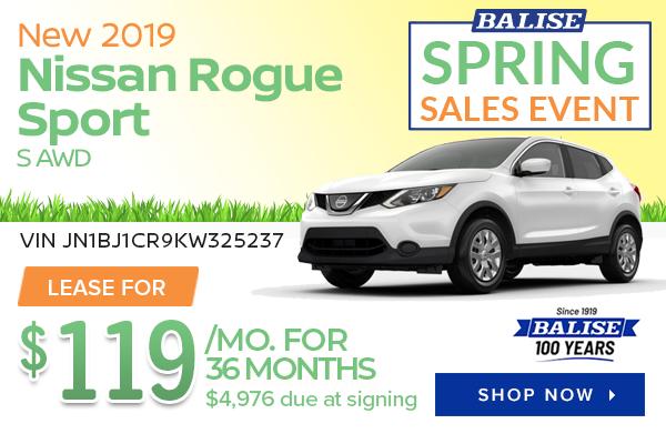 New 2019 Nissan Rogue Sport S AWD