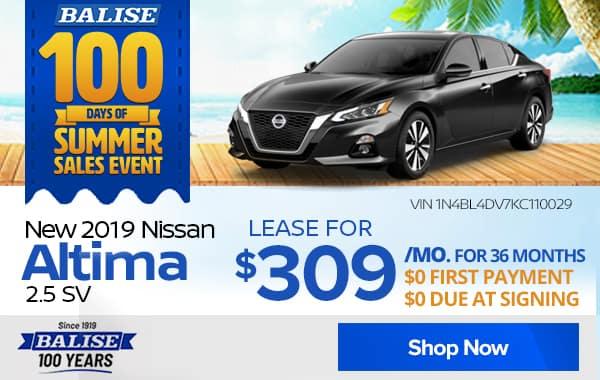 New 2019 Nissan Altima 2.5 SV