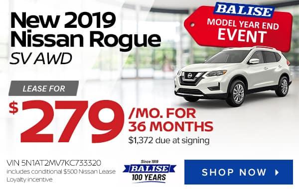 New 2019 Nissan Rogue SV AWD