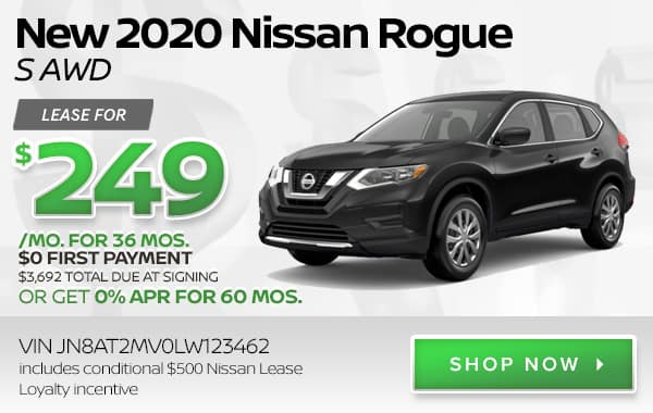 New 2020 Nissan Rogue S AWD