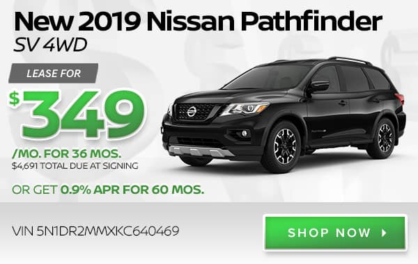New 2019 Nissan Pathfinder SV 4WD
