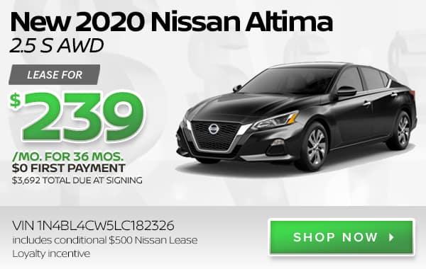 New 2020 Nissan Altima 2.5 S AWD