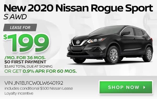 New 2020 Nissan Rogue Sport S AWD