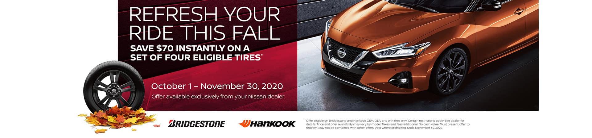 Nissan Tires Promo - Save $70