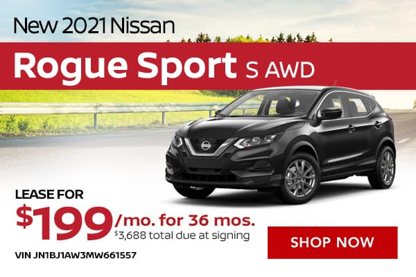 New 2021 Nissan Rogue Sport S AWD