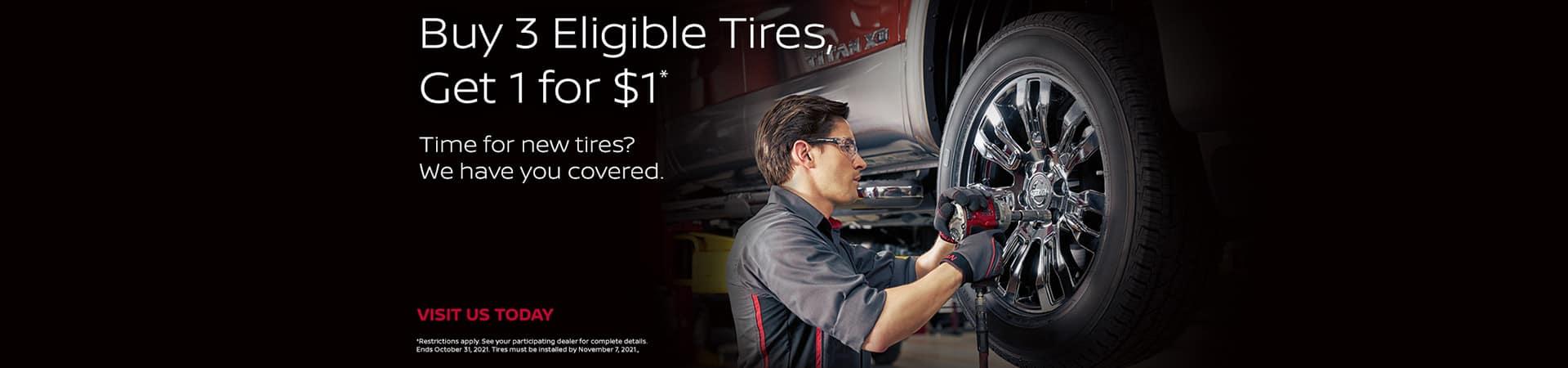 Nissan Tire Promotion - August September October 2021