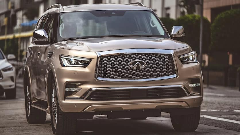 2020 INFINITI QX80 Front Exterior with LED Headlights
