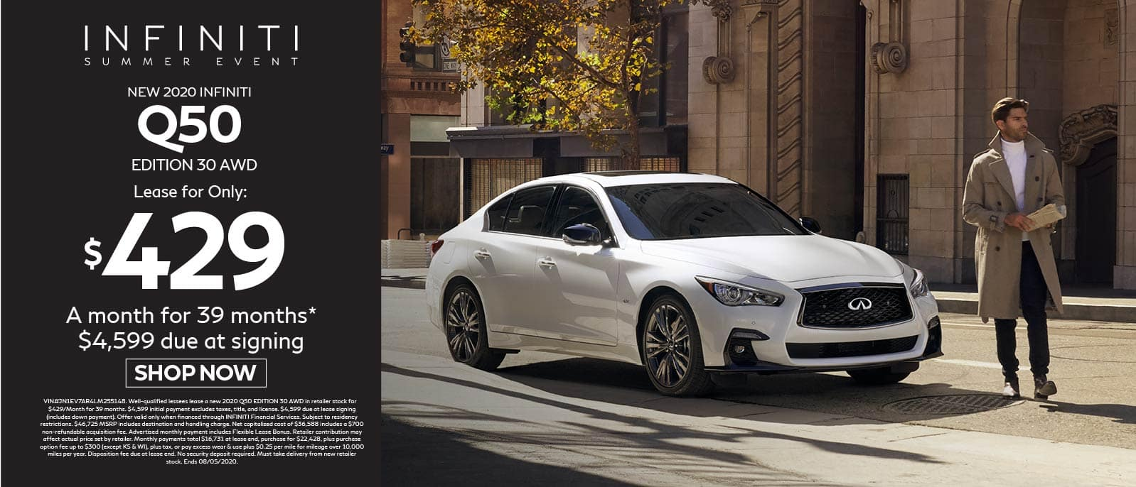 2020 INFINITI Q50 Edition 30 AWD $429 a month for 39 months $4599 due at signing. Shop now