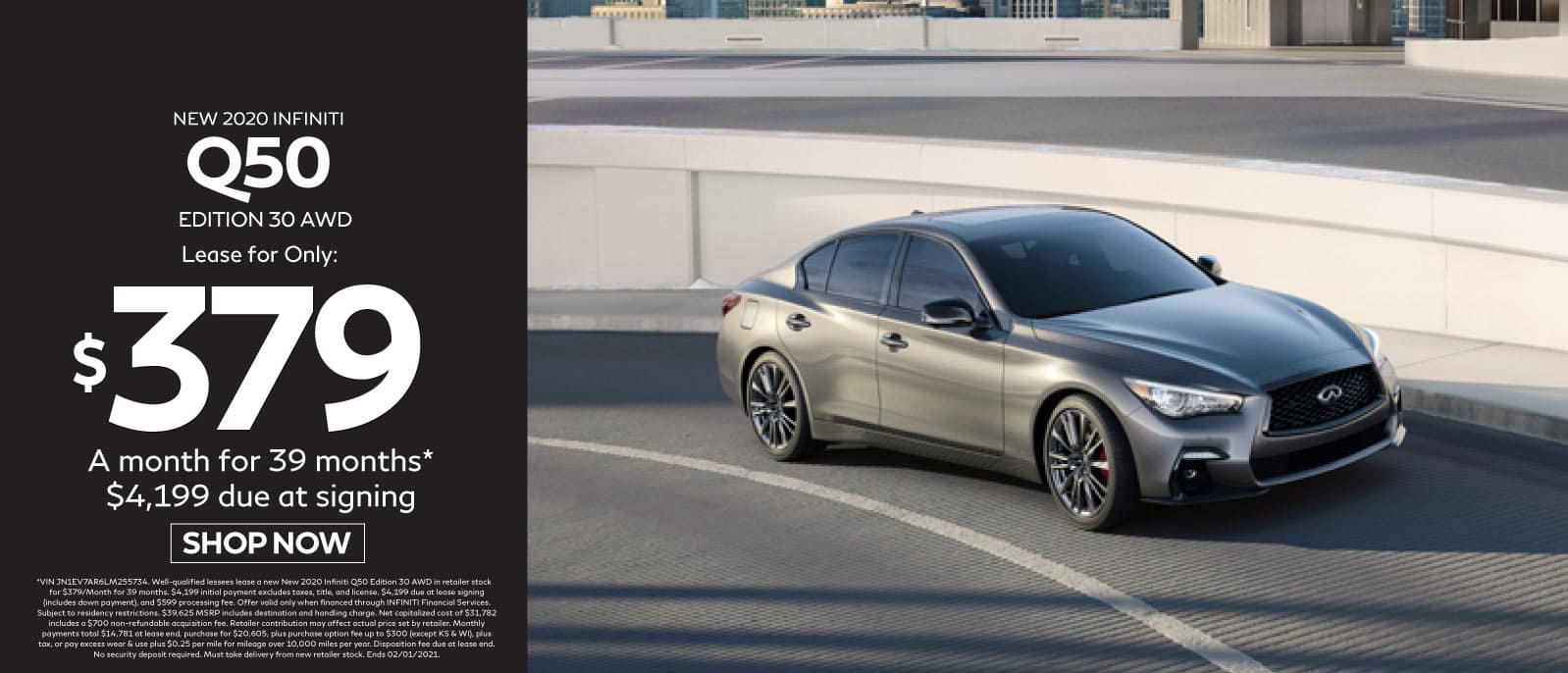 New 2020 INFINITI Q50 - Lease for only $379 per month - Shop Now