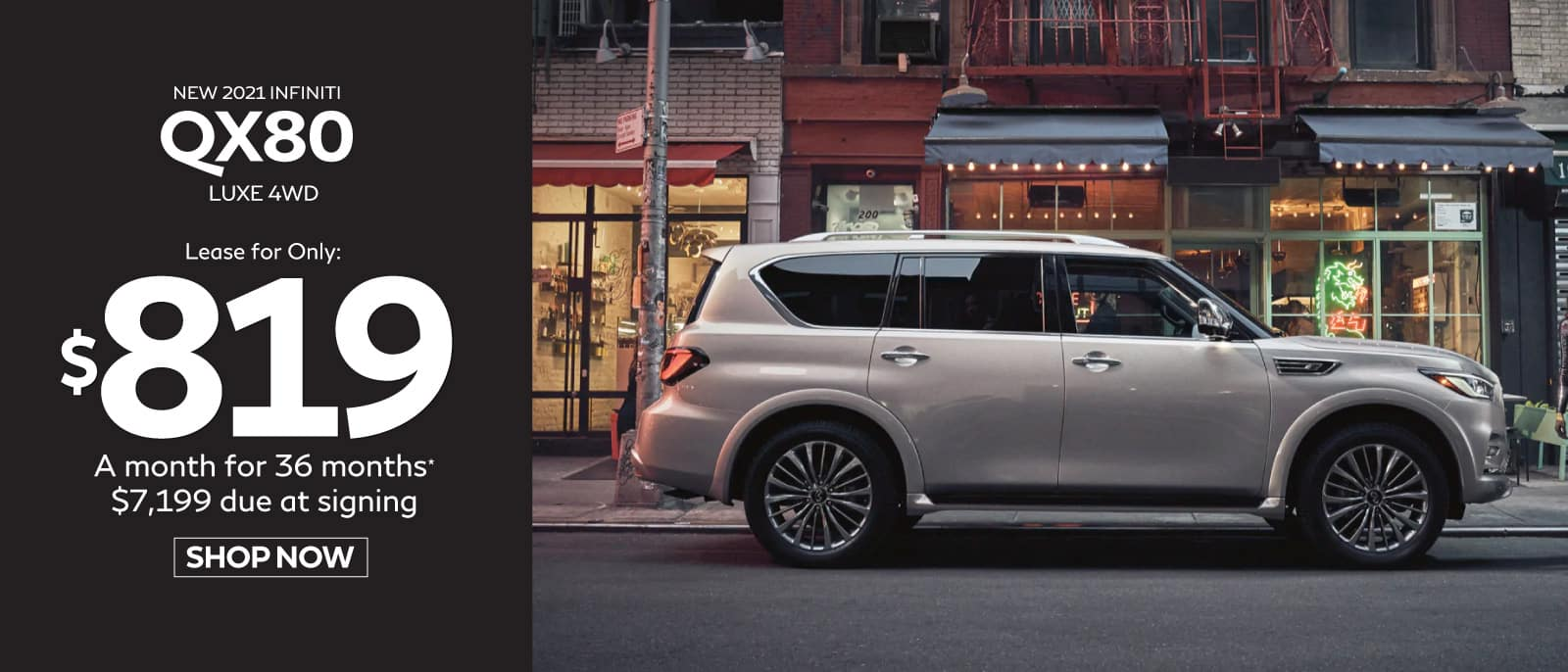 New 2021 INFINITI QX80 - Lease for only $819 a mo. for 36 mos.