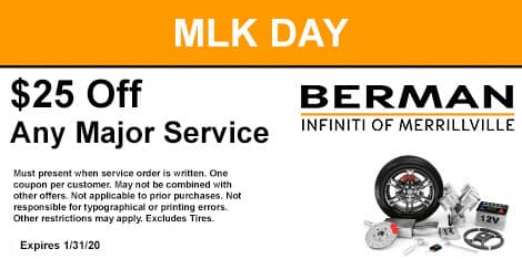 Martin Luther King Day Special: $25 off any major service