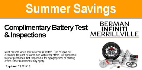 Summer Savings: Complimentary Battery Test & Inspections