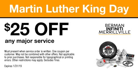 Martin Luthor King Day: $25 OFF any major service