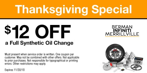 Thanksgiving Special: $12 OFF a Full Synthetic Oil Change