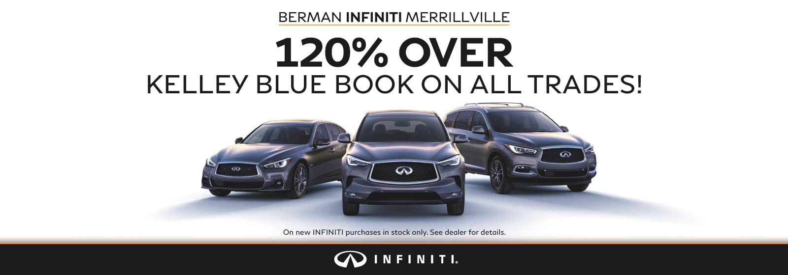 120% OVER Kelley Blue Book on all trades!