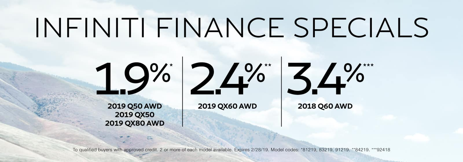 Finance Specials at Berman INFINITI Merrillville