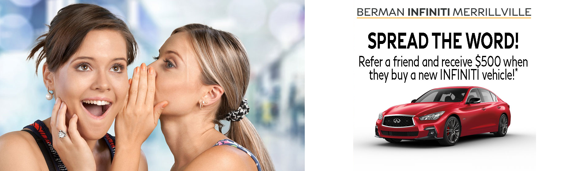 Refer a friend and received $500!