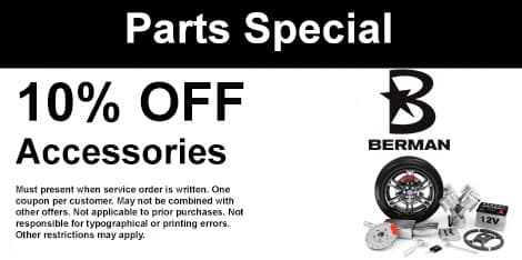 Parts Special: 10% OFF Accessories
