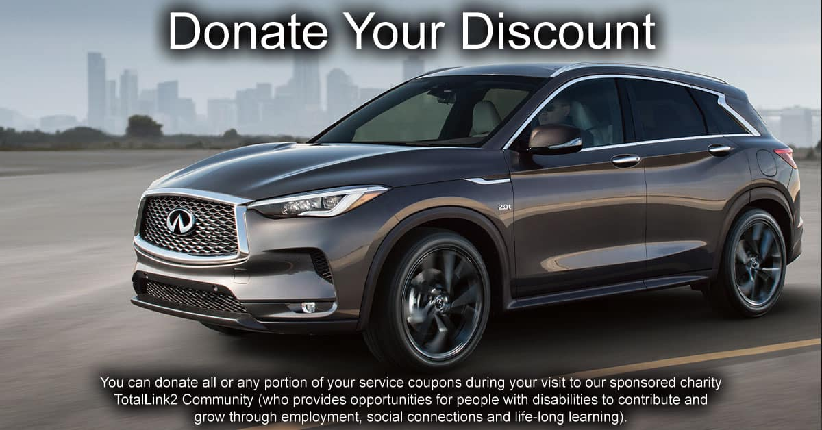 Donate Your Discount at Berman INFINITI of Merrillville