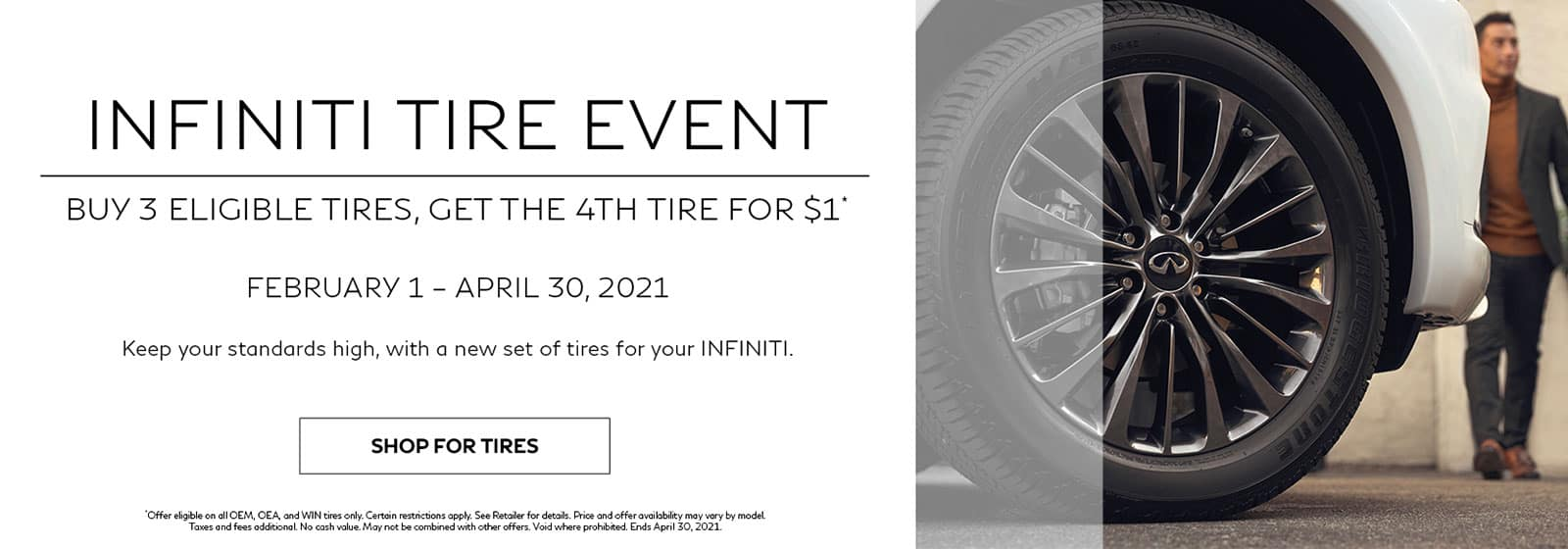 Buy 3 Tires, Get the 4th Tire for $1!