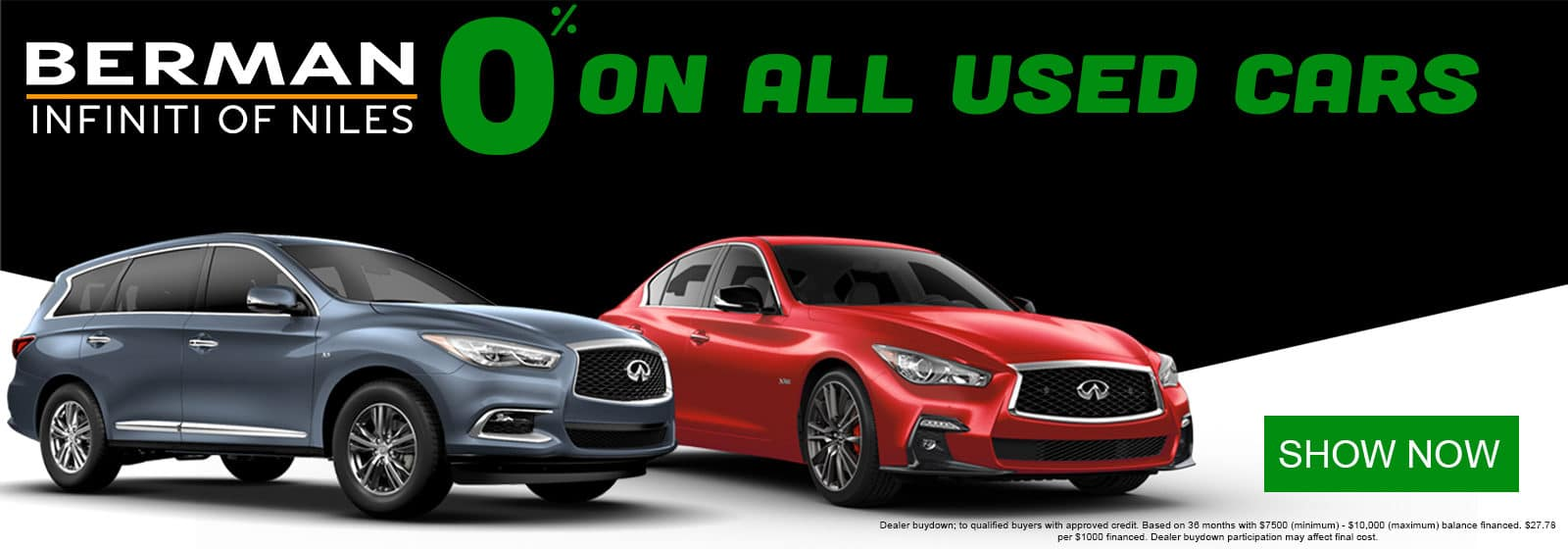 Get 0% APR Financing on ALL USED CARS during the Chicago Auto Show!