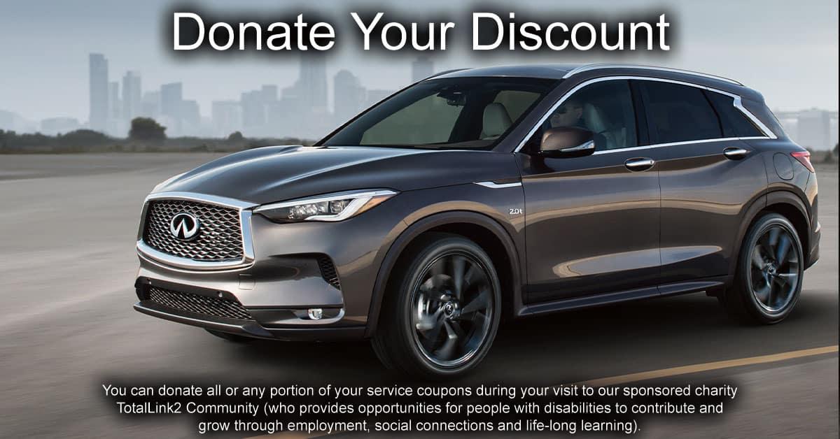 Donate Your Discount at Berman INFINITI of Niles