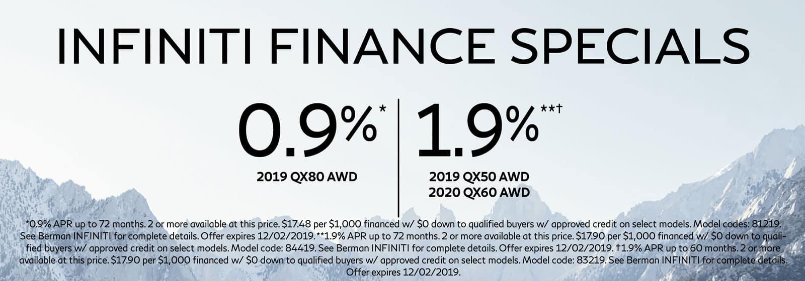 Finance Specials at Berman INFINITI of Niles