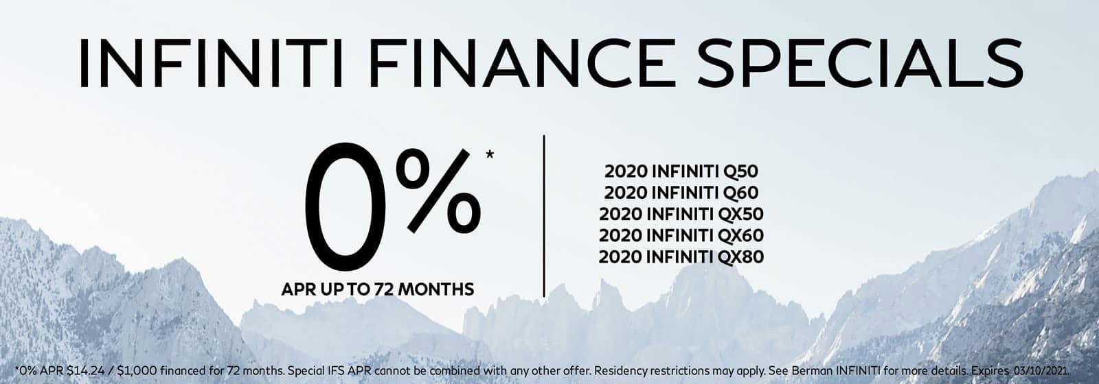 INFINITI Finance SPECIALS