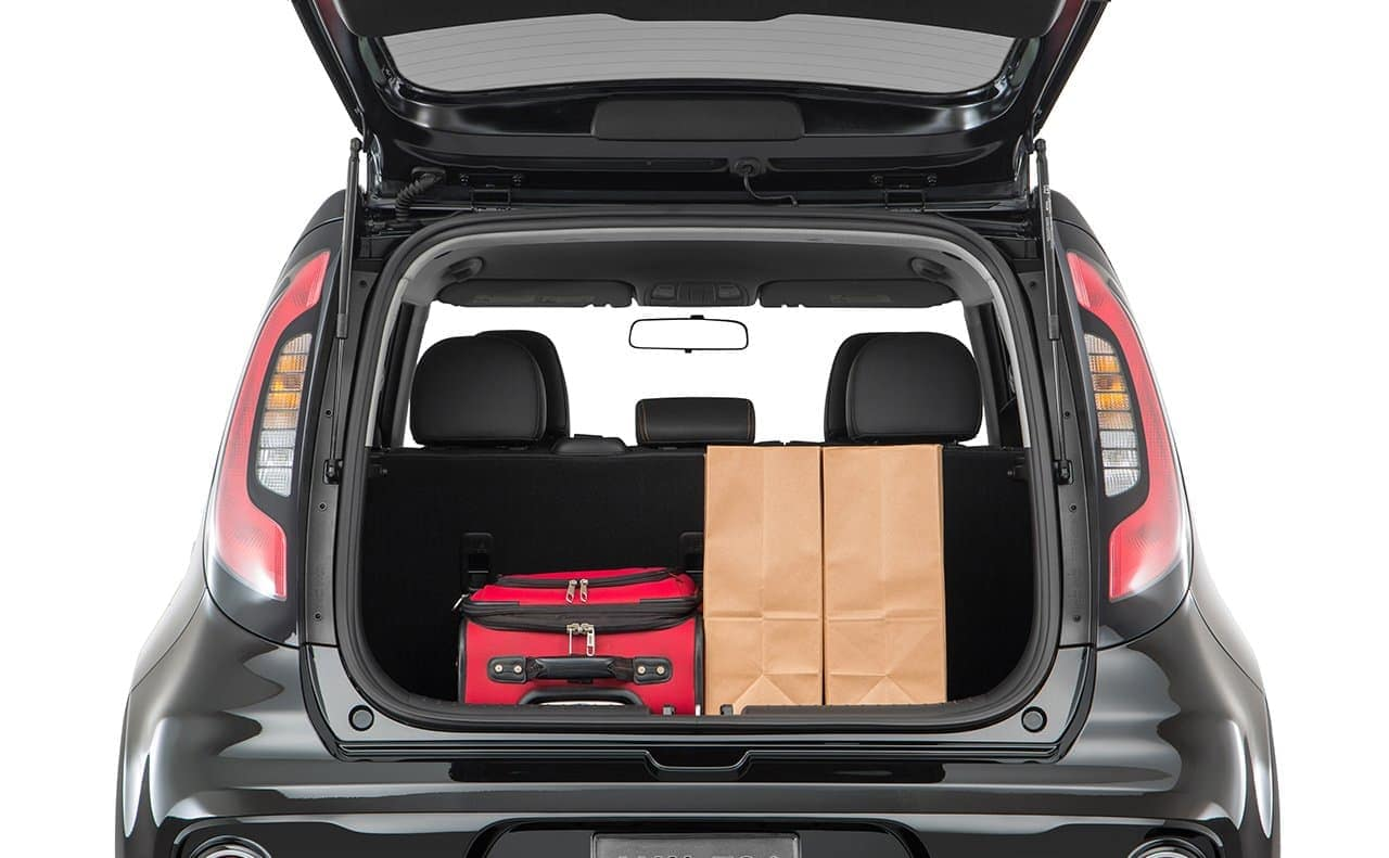 2019 Kia Soul trunk open and loaded
