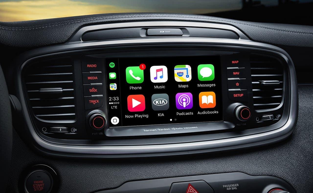 2019 Kia Sorento technological display