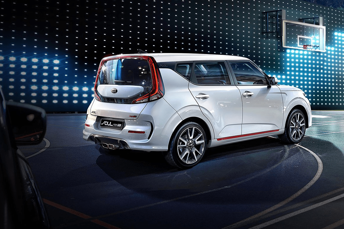 2020 Kia Soul exterior on basketball court