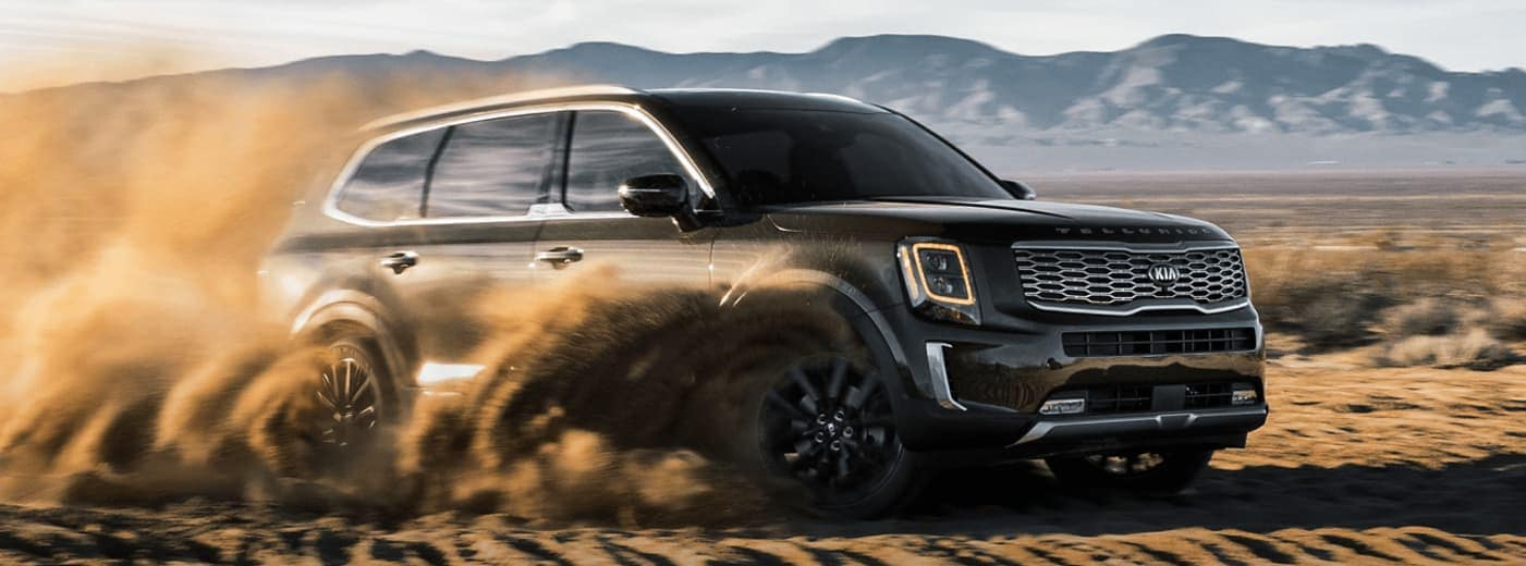 2020 Kia Telluride riding in sand