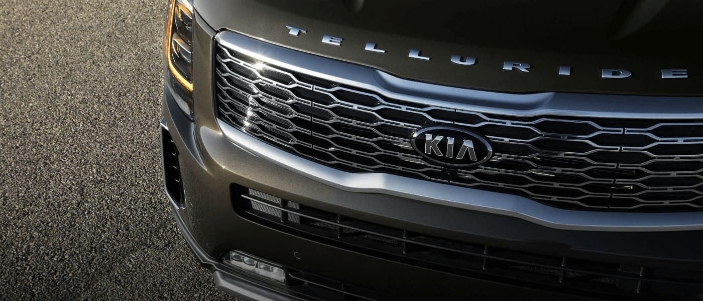 2020 Kia Telluride grille up close