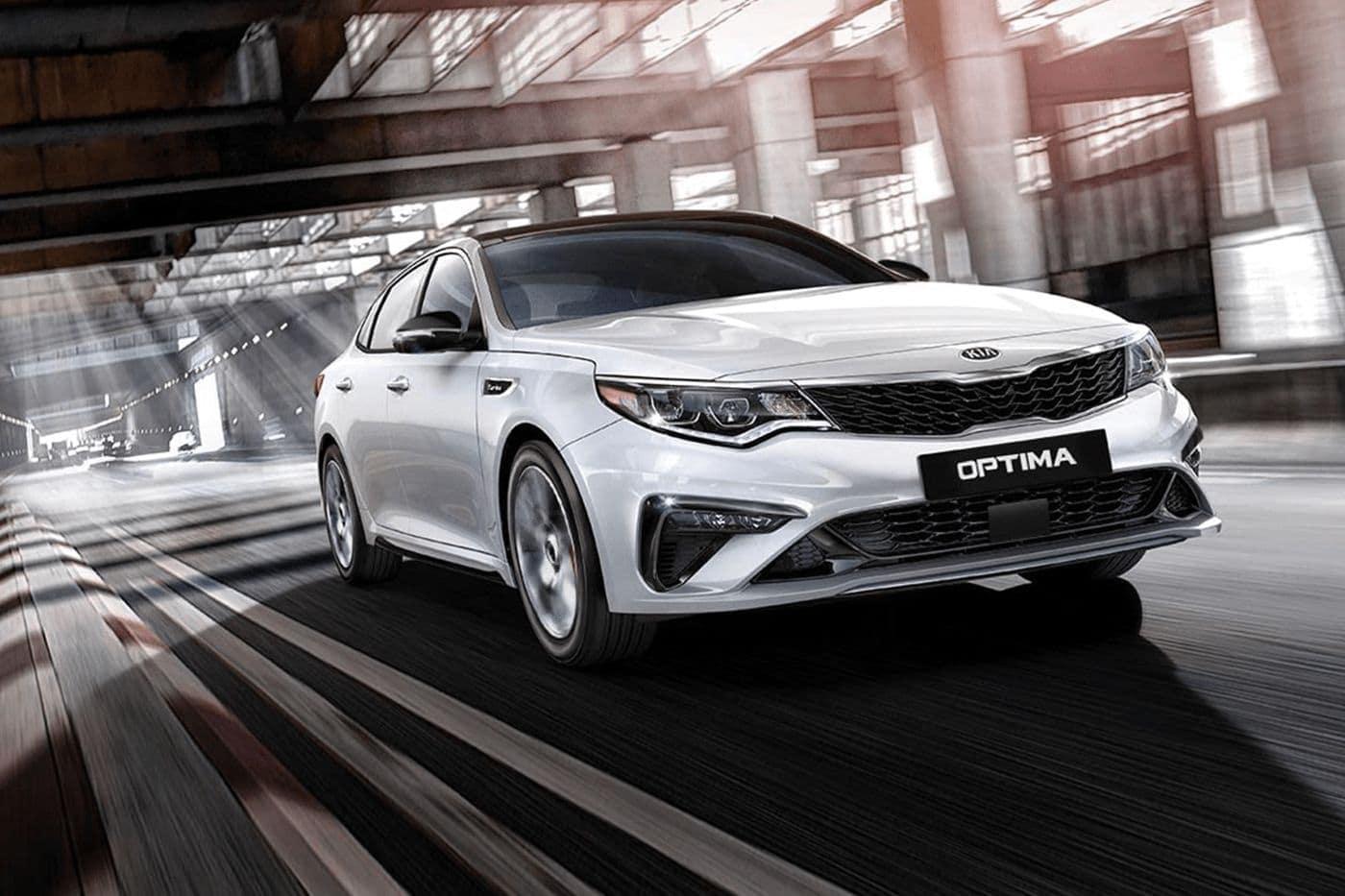 2020 Kia Optima exterior in white