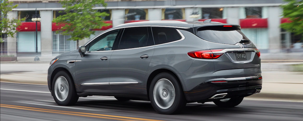 Gray Buick Enclave back view