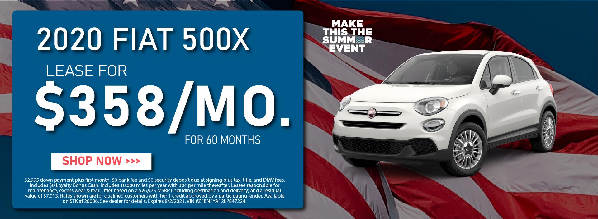 CDJR Manhattan – July 2021 – Fiat 500X – update