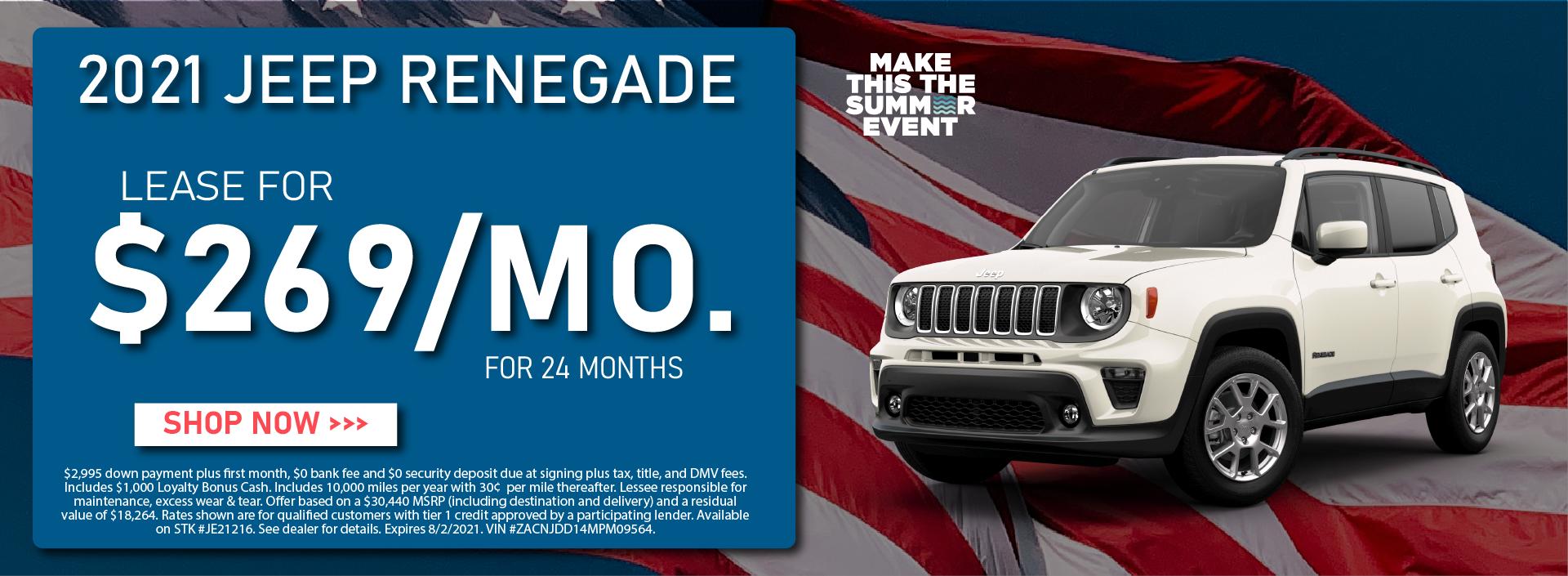 CDJR Manhattan – July 2021 – Jeep Renegade