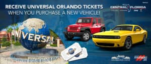 Get Universal Orlando Tickets When You Purchase A New Vehicle