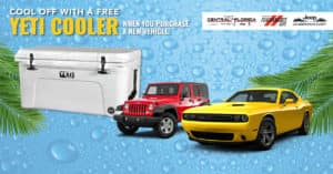 get a free yeti cooler with any new vehicle purchase!