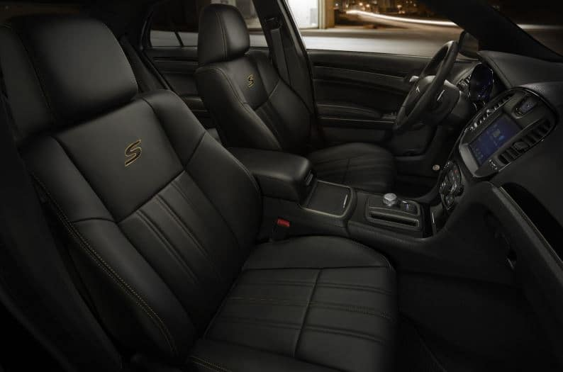 black chrysler 300 s interior