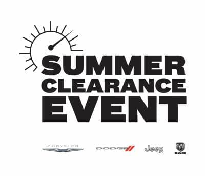 chrysler dodge jeep ram summer clearance event logo