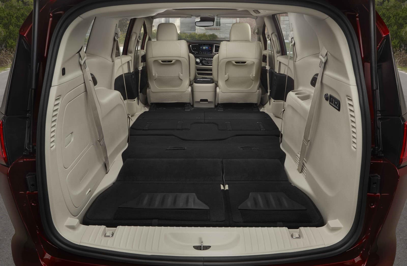 interior of 2019 chrysler pacifica folded down to show dynamic storage space