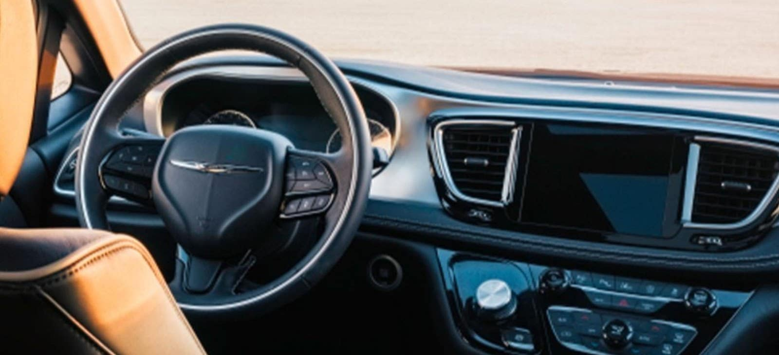 2019 chrysler pacifica steering wheel and interior design