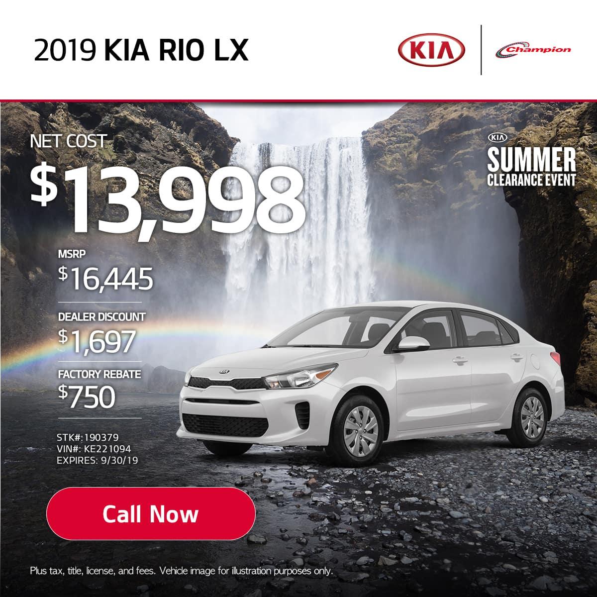mobile TK 2019 Kia Rio LX