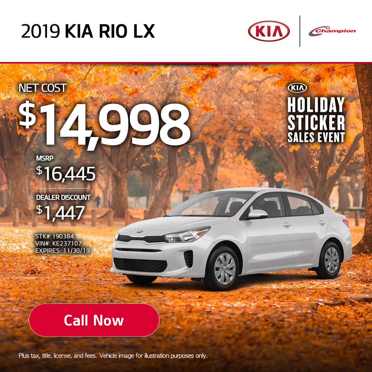 mobile TK 2019 Kia Rio