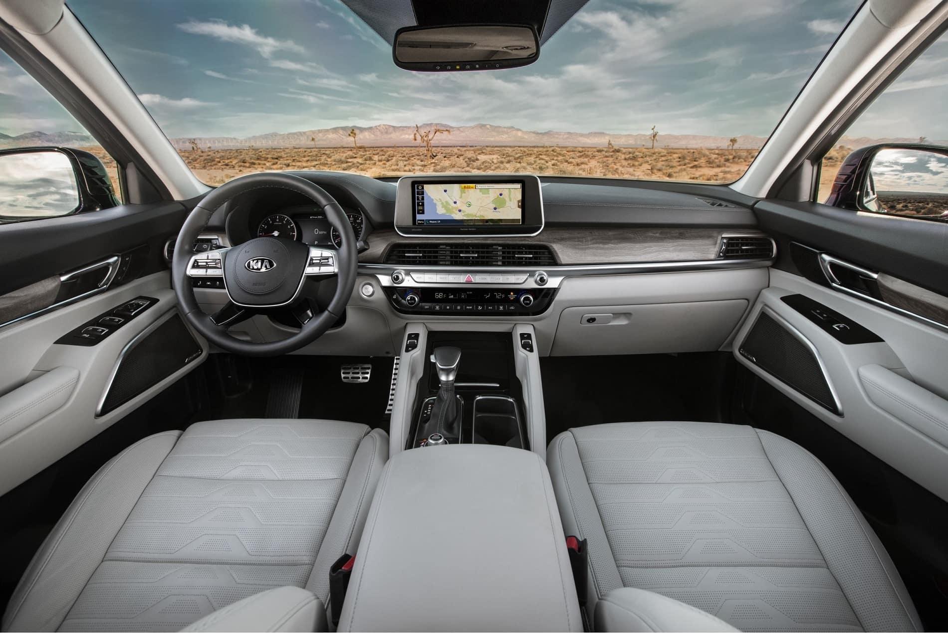 2020 Kia Telluride Leather, Dash and Technology Interior Mid Size Luxury SUV at Kia of Valencia near Santa Clarita, CA and Los Angeles Metro