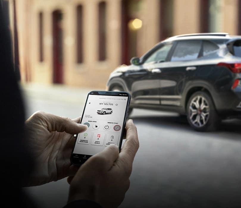 2021 Kia Seltos Mobile App Connected near Valencia, Ca at Kia of Valencia