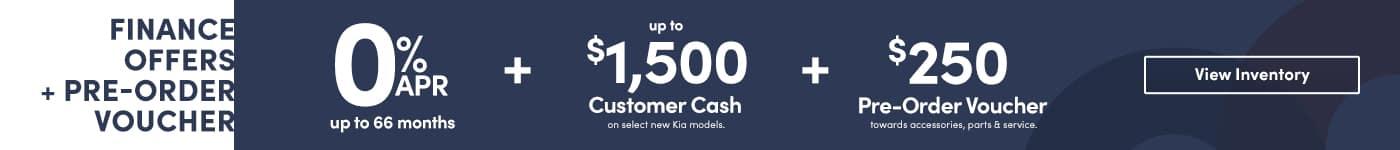 Pre-Order a Kia and receive a $250 voucher towards Accessories, Parts & Service at Kia of Valencia near Santa Clarita, Ca