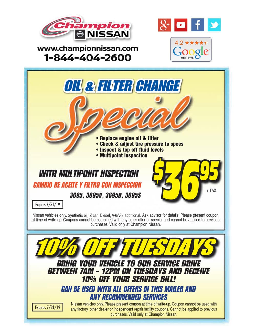 Oil Change Coupons Near Me >> Auto Service Specials Oil Changes Brakes Near Me Santa Clarita