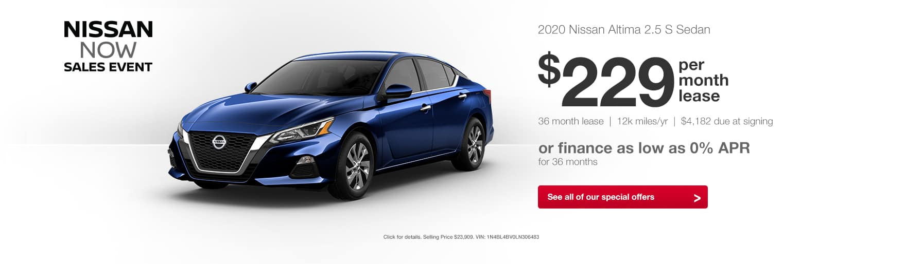 2020 Nissan Altima Nissan Now Sales Event Lease Finance Special